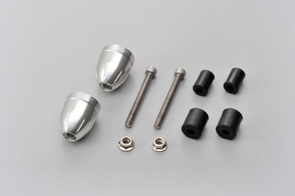 """""""BULLET"""" Lenkergewichte Set Aluminium CNC silber eloxiert 14-19mm"""