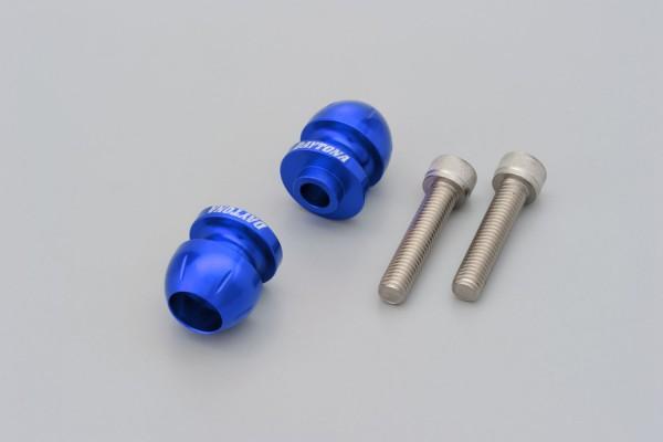 """BULLET"" Schwingen Spule Set Aluminium CNC blau eloxiert M10"