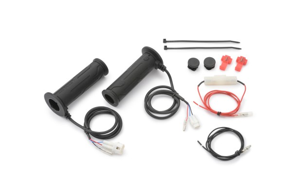 """Heated grips 7/8"""" 4-level built-in switch w/ protection open end"""