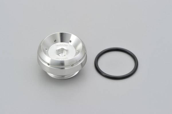 """BULLET"" Oil filler cap M27 x P3.0 silver"