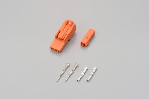 Connector set 2-port orange f. HONDA indicator