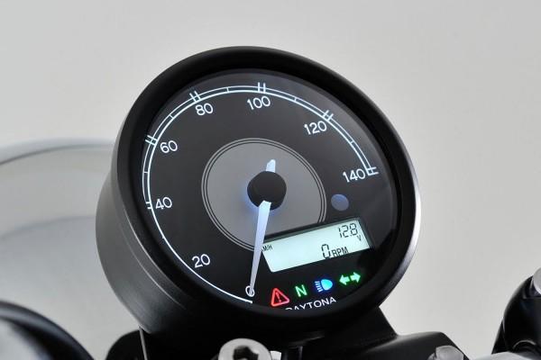 """VELONA80"" ELECTRICAL SPEEDOMETER 140 KM/H MPH, WHITE LED, BLACK"
