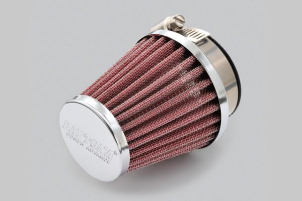 """POWER ADVANCE"" Universal air filter 45mm round / straight type"