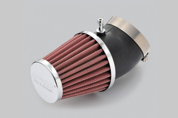 """""""POWER ADVANCE"""" Universal air filter 49mm round / curved type"""