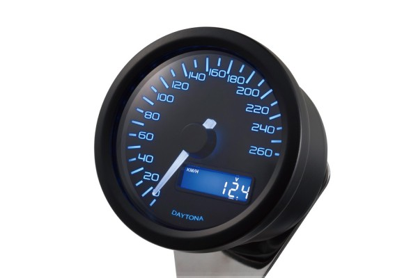 """DARK VELONA60"" ELECTRICAL SPEEDOMETER 260KM/H(MPH), BLUE LED"