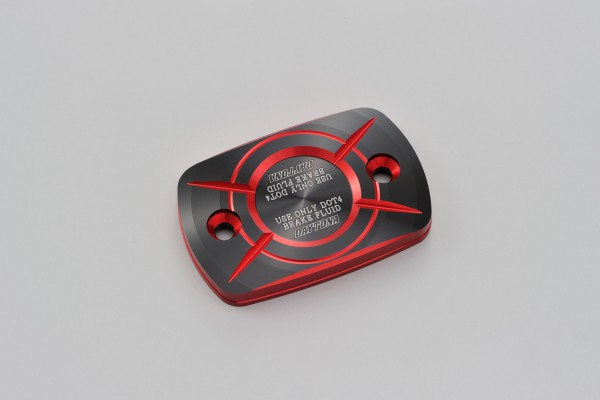 Master cylinder square cap for YAMAHA (C) dual anodized red black